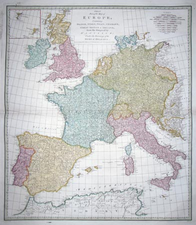 Large map of Western Europe