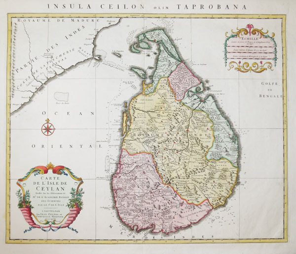 Decorative map of Sri Lanka
