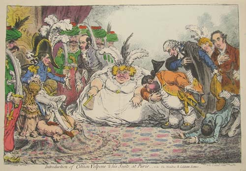 Satire on the Meeting of Napoleon & Charles James Fox