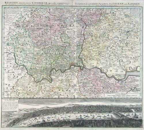 Map of London & Environs