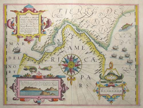 Important Map of the Straits of Magellan.