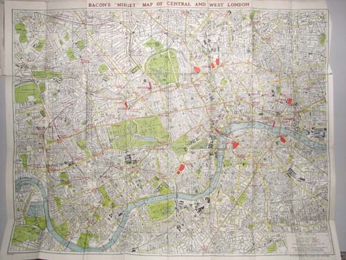 Early C20th Map of London