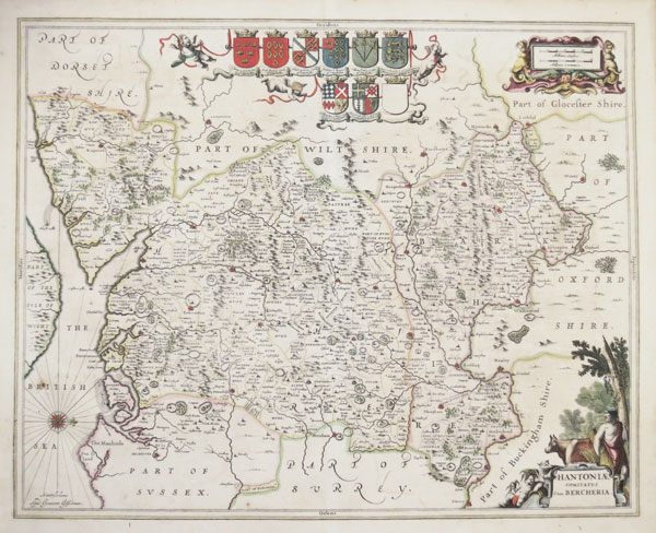Fine map of Hampshire and Berkshire