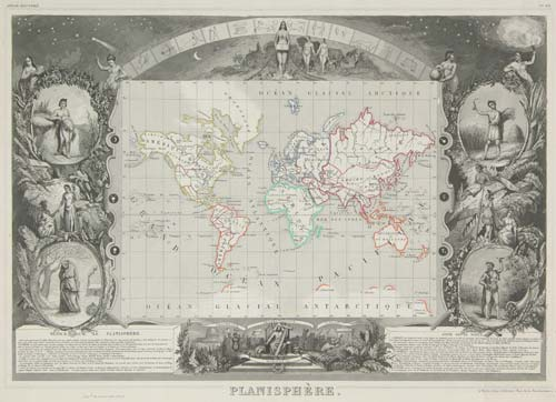 World map on Mercator