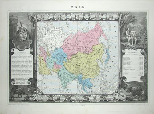 Set of maps of the World & 6 Continents