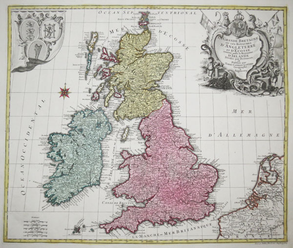 Decorative map of the British Isles