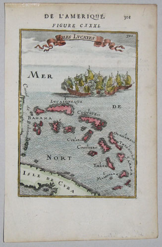 Miniature map of the Bahamas