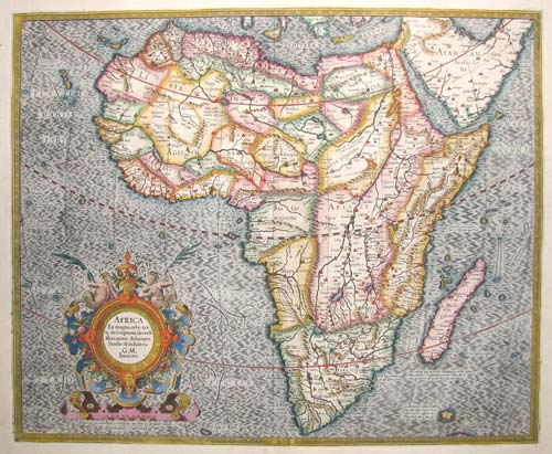 Fine map of Africa