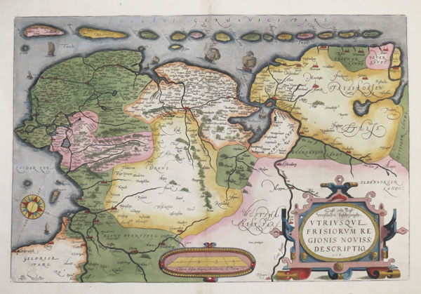 Early map of Frisia