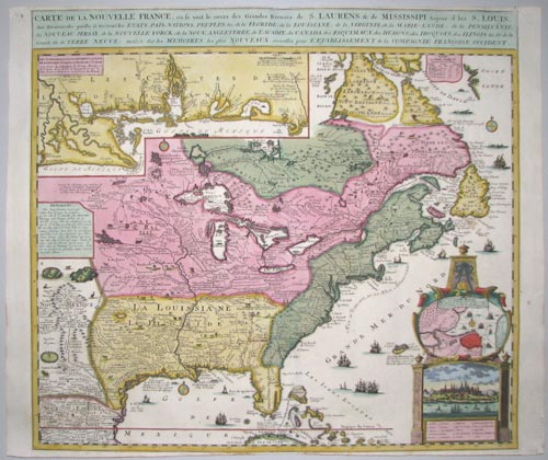 French map of eastern North America
