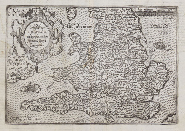 Map of England & Wales after Humphrey Lhuyd