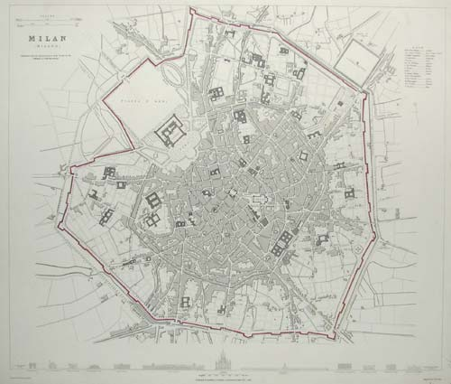 Townplan of Milan