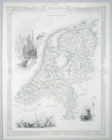 Decorative map of Holland
