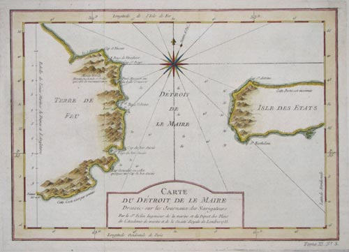 Chart of the Le Maire Straits