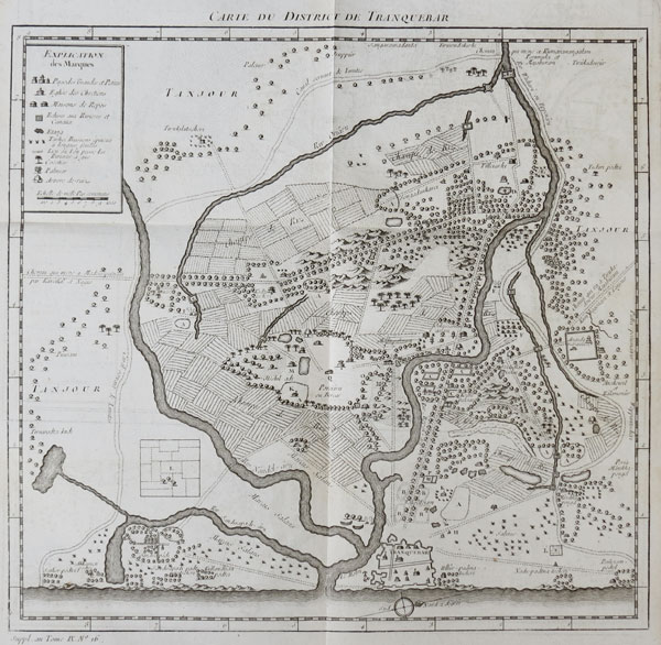 Early plan of Tharangambadi, Tamil Nadu