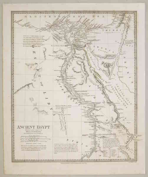 Detailed map of Ancient Egypt