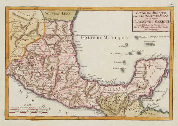Map of Central Mexico and Yucatan