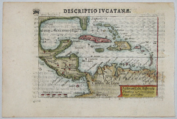 Miniature map of the West Indies
