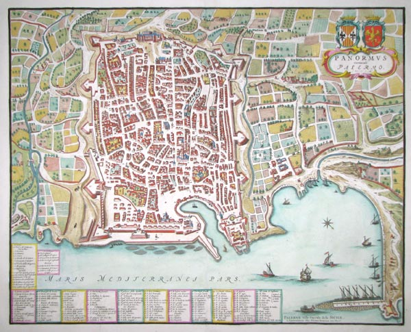 An uncommon town plan of Palermo